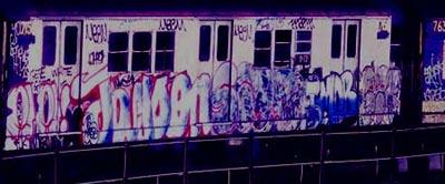 New York Old School Subway Graffiti