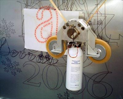 robot graffitero