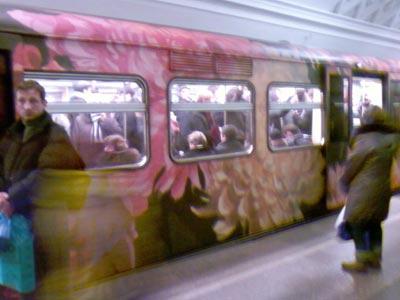 arte en el metro de moscu