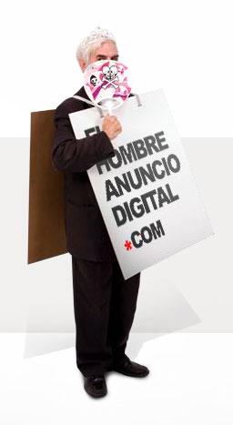El hombre anuncio digital