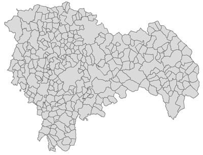 Mapas vectoriales de los municipios de España gratis