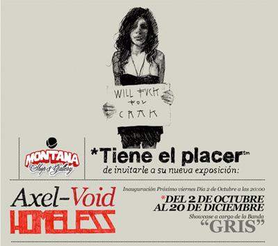 Homeless de Axel Void en Monta Shop & Gallery Sevilla
