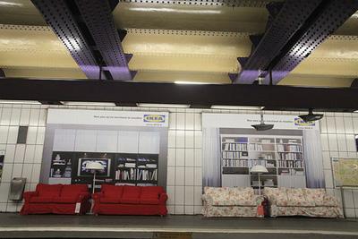 Ikea en el metro de París